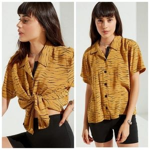 Urban Outfitters Dolores Button Up Top
